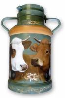 bidon lait peint la main vaches abondance tarine boutique savoy. Black Bedroom Furniture Sets. Home Design Ideas